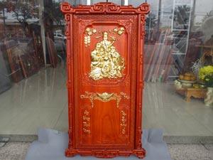 Tranh Gỗ Đốc Lịch Tam Đa - Phúc Lộc Thọ dát vàng 88cm
