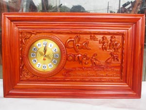 Tranh Gỗ Đồng Hồ Cha Mẹ PU 67cm