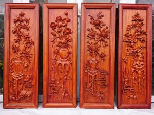 Tranh gỗ hương Tứ Bình loại đẹp cao cấp - 2143