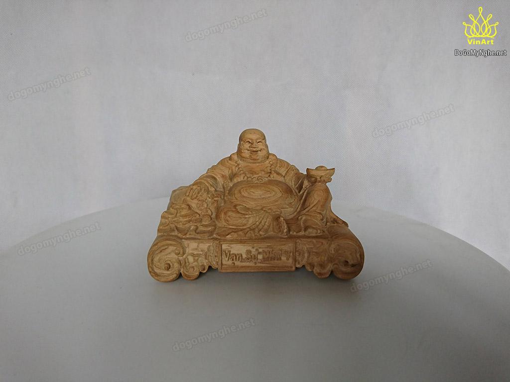 Tượng gỗ thơm Di Lặc Vạn Sự Như Ý 12.5cm x 8cm x 8cm
